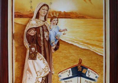 Cartel Virgen Carmen Torre del Mar